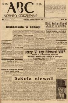 ABC : nowiny codzienne. 1936, nr357 [ocenzurowany] |PDF|