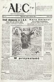 ABC : nowiny codzienne. 1938, nr1 A |PDF|