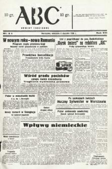 ABC : nowiny codzienne. 1938, nr2 A |PDF|