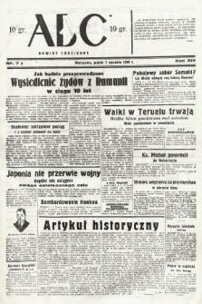 ABC : nowiny codzienne. 1938, nr7 A |PDF|