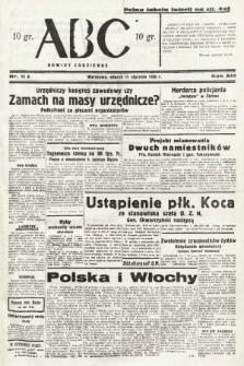 ABC : nowiny codzienne. 1938, nr11 A |PDF|
