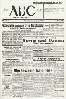 ABC : nowiny codzienne. 1938, nr12 A |PDF|