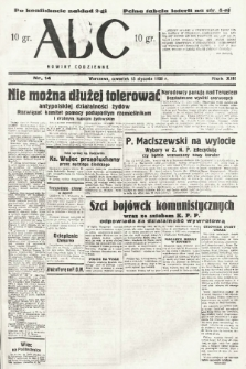 ABC : nowiny codzienne. 1938, nr14 [ocenzurowany]  PDF 