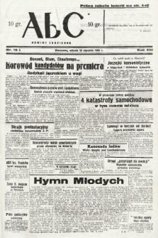 ABC : nowiny codzienne. 1938, nr19 A |PDF|