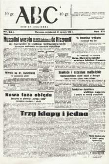 ABC : nowiny codzienne. 1938, nr33 A |PDF|