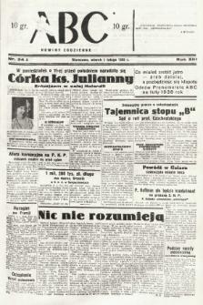 ABC : nowiny codzienne. 1938, nr34 A |PDF|