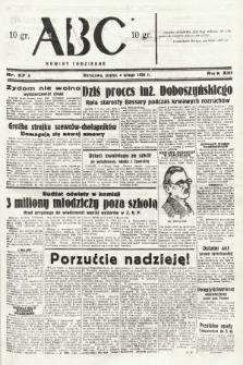 ABC : nowiny codzienne. 1938, nr37 A |PDF|