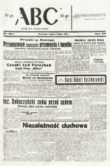 ABC : nowiny codzienne. 1938, nr38 A |PDF|