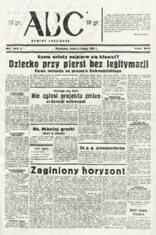 ABC : nowiny codzienne. 1938, nr43 A |PDF|
