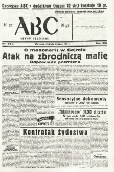 ABC : nowiny codzienne. 1938, nr54 A |PDF|