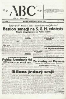ABC : nowiny codzienne. 1938, nr104 A |PDF|