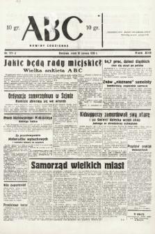 ABC : nowiny codzienne. 1938, nr171 A |PDF|