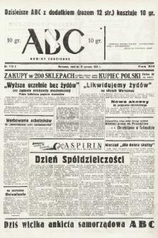 ABC : nowiny codzienne. 1938, nr173 A |PDF|