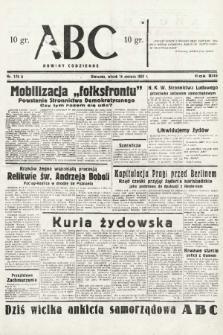 ABC : nowiny codzienne. 1938, nr175 A |PDF|