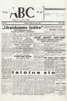 ABC : nowiny codzienne. 1938, nr186 A |PDF|