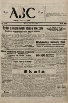 ABC : nowiny codzienne. 1938, nr204 A |PDF|