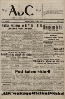 ABC : nowiny codzienne. 1938, nr222 A |PDF|