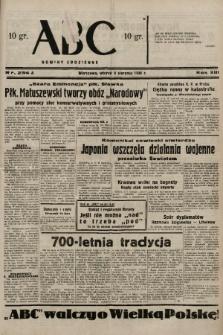 ABC : nowiny codzienne. 1938, nr234 A |PDF|