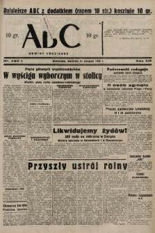 ABC : nowiny codzienne. 1938, nr240 A |PDF|