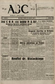 ABC : nowiny codzienne. 1938, nr249 A |PDF|