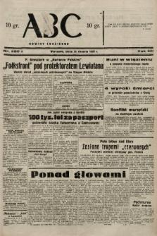 ABC : nowiny codzienne. 1938, nr250 A |PDF|