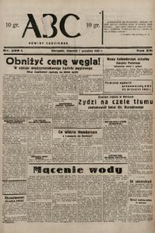 ABC : nowiny codzienne. 1938, nr258 A |PDF|