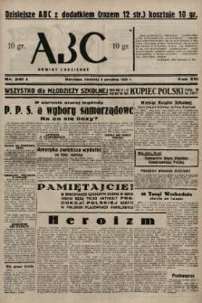 ABC : nowiny codzienne. 1938, nr261 A |PDF|