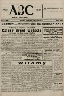 ABC : nowiny codzienne. 1938, nr262 A |PDF|