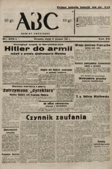 ABC : nowiny codzienne. 1938, nr270 A  PDF 