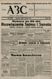 ABC : nowiny codzienne. 1938, nr272 A [ocenzurowany] |PDF|