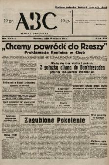 ABC : nowiny codzienne. 1938, nr274 A |PDF|