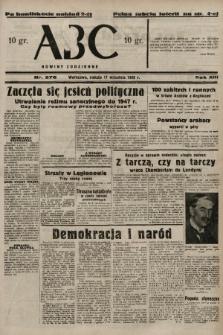 ABC : nowiny codzienne. 1938, nr276 A [ocenzurowany] |PDF|