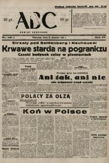ABC : nowiny codzienne. 1938, nr281 A |PDF|