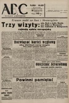 ABC : nowiny codzienne. 1938, nr315 A |PDF|