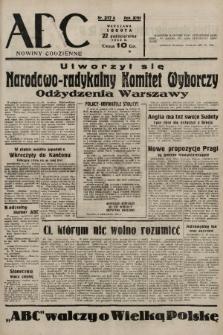 ABC : nowiny codzienne. 1938, nr317 A |PDF|