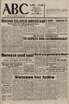 ABC : nowiny codzienne. 1938, nr322 A |PDF|
