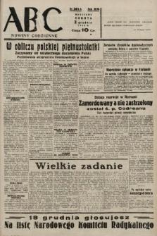 ABC : nowiny codzienne. 1938, nr361 A |PDF|