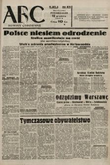 ABC : nowiny codzienne. 1938, nr371 A  PDF 