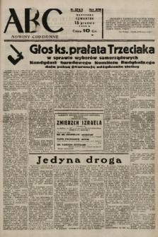 ABC : nowiny codzienne. 1938, nr374 A |PDF|