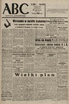 ABC : nowiny codzienne. 1938, nr382 A |PDF|