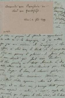 Autografy Fanny von Arnstein i inne materiały z nią związane