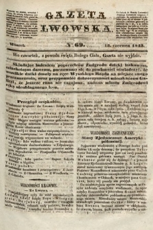Gazeta Lwowska. 1843, nr 69