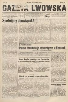 Gazeta Lwowska. 1931, nr47