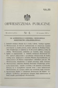 Obwieszczenia Publiczne. R.21, № 4 (13 stycznia 1937)