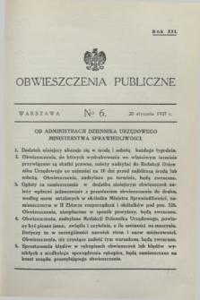 Obwieszczenia Publiczne. R.21, № 6 (20 stycznia 1937)