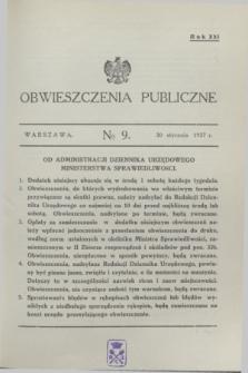 Obwieszczenia Publiczne. R.21, № 9 (30 stycznia 1937)