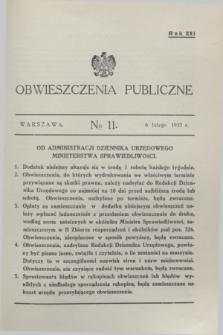 Obwieszczenia Publiczne. R.21, № 11 (6 lutego 1937)