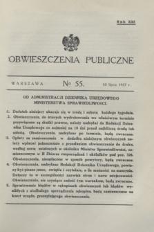 Obwieszczenia Publiczne. R.21, № 55 (10 lipca 1937)