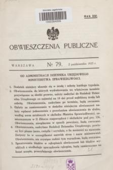 Obwieszczenia Publiczne. R.21, № 79 (2 października 1937)