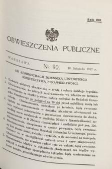 Obwieszczenia Publiczne. R.21, № 90 (10 listopada 1937)